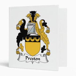 Escudo de la familia de Preston