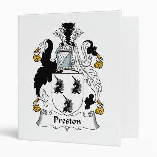 """Escudo de la familia de Preston Carpeta 1"""""""