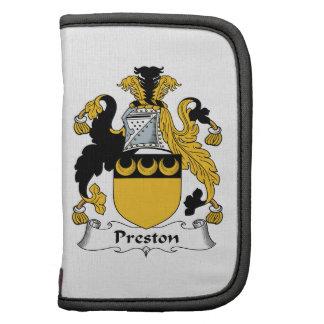 Escudo de la familia de Preston Planificadores