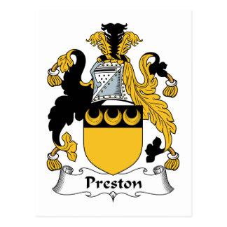 Escudo de la familia de Preston Postal