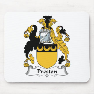 Escudo de la familia de Preston Tapete De Ratones
