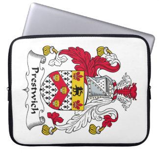 Escudo de la familia de Prestwich Fundas Ordendadores