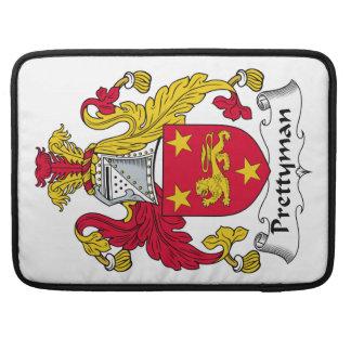 Escudo de la familia de Prettyman Funda Para Macbooks