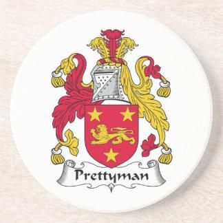 Escudo de la familia de Prettyman Posavasos Cerveza