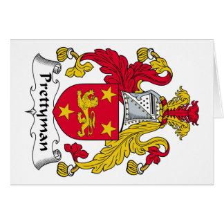 Escudo de la familia de Prettyman Tarjeta