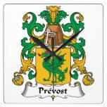 Escudo de la familia de Prevost Relojes