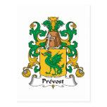 Escudo de la familia de Prevost Tarjeta Postal