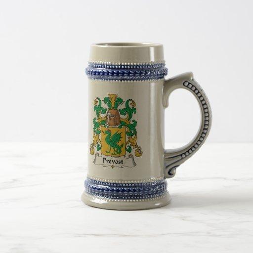 Escudo de la familia de Prevost Tazas De Café