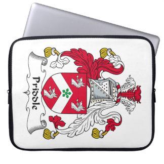 Escudo de la familia de Priddle Fundas Computadoras