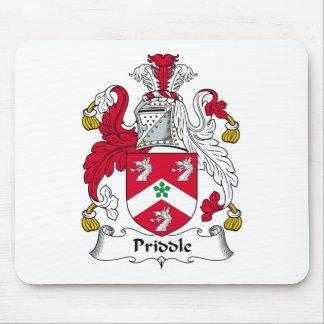 Escudo de la familia de Priddle Tapetes De Ratón