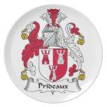Escudo de la familia de Prideaux Platos De Comidas