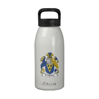 Escudo de la familia de Pridham Botellas De Beber
