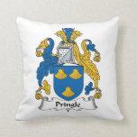 Escudo de la familia de Pringle Cojin