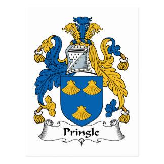 Escudo de la familia de Pringle Tarjetas Postales
