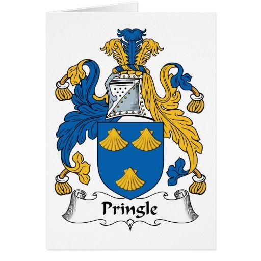 Escudo de la familia de Pringle Tarjetón