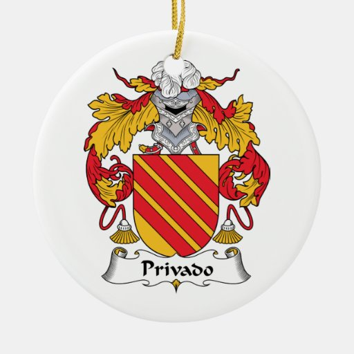 Escudo de la familia de Privado Adorno Navideño Redondo De Cerámica