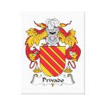 Escudo de la familia de Privado Impresión En Lienzo Estirada