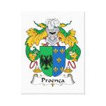 Escudo de la familia de Proenca Lona Envuelta Para Galerías