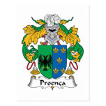 Escudo de la familia de Proenca Tarjetas Postales