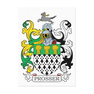 Escudo de la familia de Prosser Impresion En Lona
