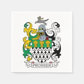 Escudo de la familia de Prosser Servilletas De Papel
