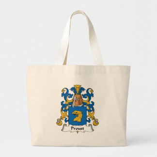 Escudo de la familia de Proust Bolsa Tela Grande