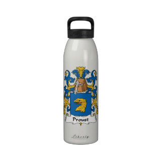 Escudo de la familia de Proust Botella De Agua