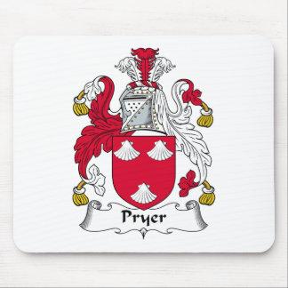 Escudo de la familia de Pryer Tapetes De Ratones
