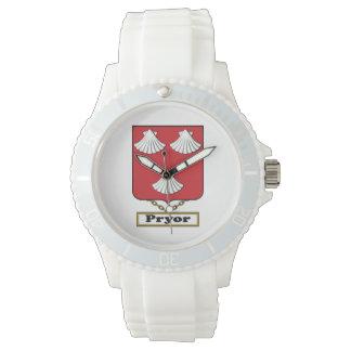 Escudo de la familia de Pryor Relojes De Mano