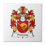 Escudo de la familia de Przerowa Azulejo Cerámica