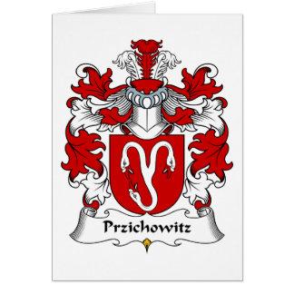 Escudo de la familia de Przichowitz Tarjeta De Felicitación