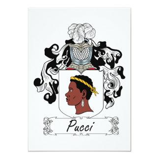 Escudo de la familia de Pucci Invitación 12,7 X 17,8 Cm