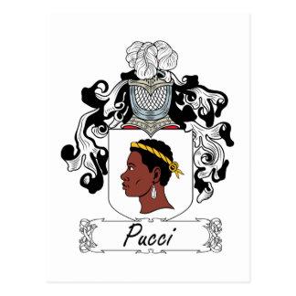 Escudo de la familia de Pucci Tarjetas Postales