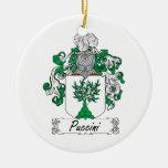 Escudo de la familia de Puccini Adornos De Navidad