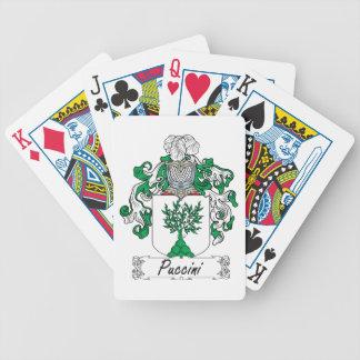 Escudo de la familia de Puccini Baraja Cartas De Poker