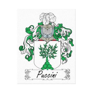Escudo de la familia de Puccini Lona Estirada Galerias