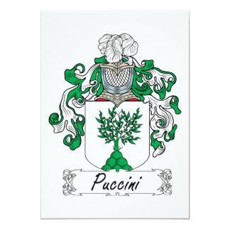 Escudo de la familia de Puccini Invitación 12,7 X 17,8 Cm