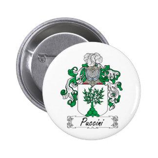 Escudo de la familia de Puccini Pin Redondo De 2 Pulgadas