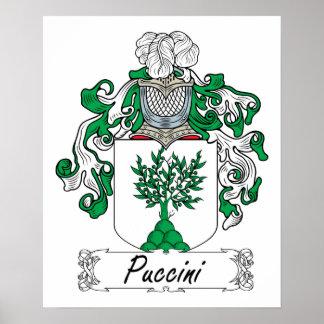 Escudo de la familia de Puccini Póster