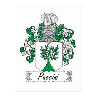 Escudo de la familia de Puccini Postal