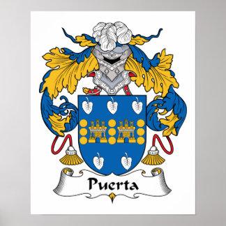 Escudo de la familia de Puerta Poster