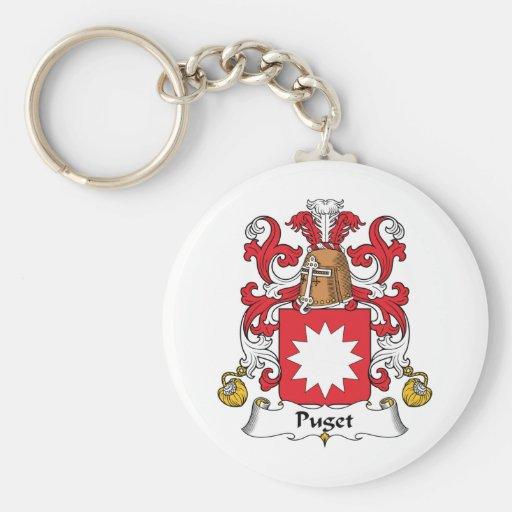 Escudo de la familia de Puget Llavero Redondo Tipo Pin