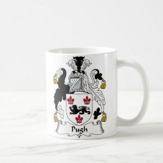 Escudo de la familia de Pugh Taza De Café