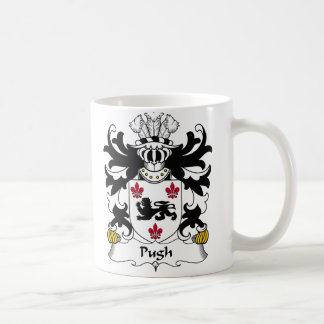 Escudo de la familia de Pugh Taza Clásica