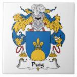 Escudo de la familia de Puig Azulejo