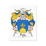 Escudo de la familia de Puig Lienzo Envuelto Para Galerias