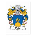 Escudo de la familia de Puig Postales