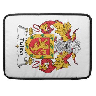 Escudo de la familia de Pulido Funda Para Macbooks