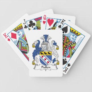 Escudo de la familia de Pullen Baraja Cartas De Poker