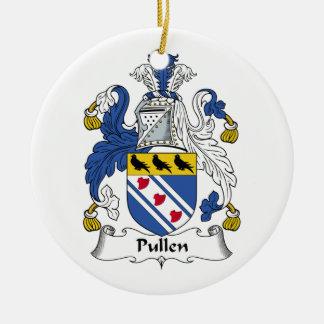 Escudo de la familia de Pullen Adorno Redondo De Cerámica